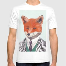 Mr. Fox White Mens Fitted Tee SMALL