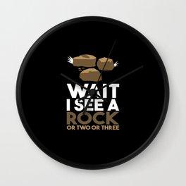 Wait I See A Rock Wall Clock