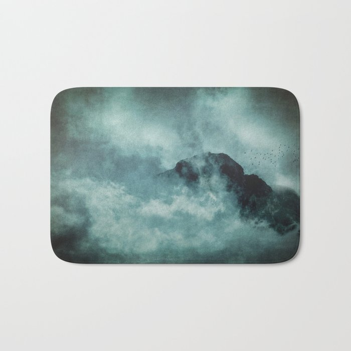 On the top of the world- Mountains Dust Bath Mat