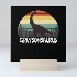 GRAYSONSAURUS GRAYSON SAURUS GRAYSON DINOSAUR Mini Art Print