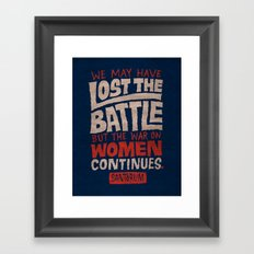 Lost the Battle Framed Art Print