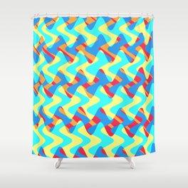 Crosswave Orange - Electron Series 002 Shower Curtain