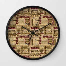 A Book Lover's Medley Wall Clock