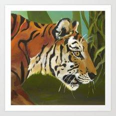 Tiger (detail) Art Print