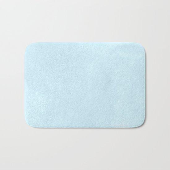 Tropical Waters Blue Watercolor Bath Mat