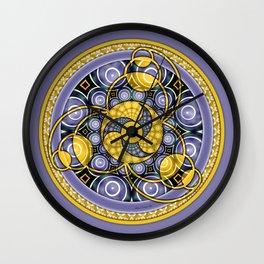 Crop Circle Mandala 5 Wall Clock