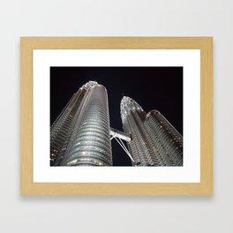 Petronas Twin Tower, KL Malaysia Framed Art Print