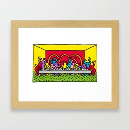 Happy Supper Framed Art Print
