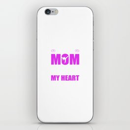 Karate Moms Full Heart Mothers Day T-Shirt iPhone Skin