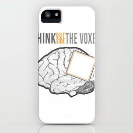 Think Outside the Voxel iPhone Case