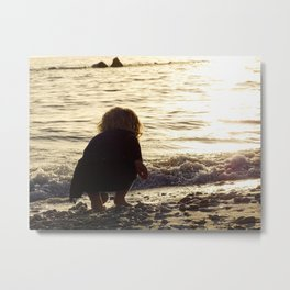 Baby Girl in the Gulf Metal Print