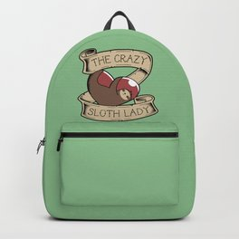 Crazy Sloth Lady Tattoo Backpack