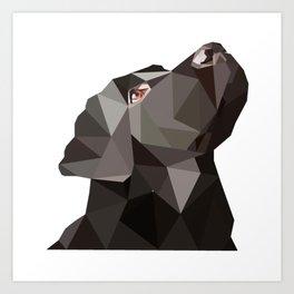 Geometric dog Art Print