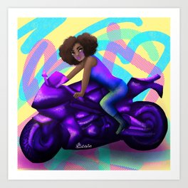 Biker Girl 2 Art Print