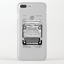 patent art Granville Type Writer 1900 Clear iPhone Case