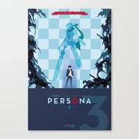persona Canvas Prints featuring Persona 3 by Phil Giarrusso