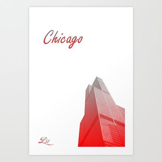 Cities Of America: Chicago Art Print