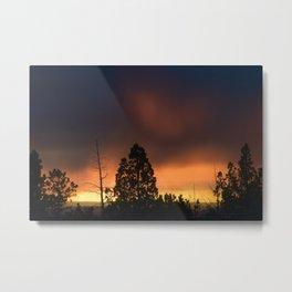 Central Oregon Sunset 2 Metal Print
