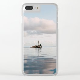 """Saying """"Peace"""" to All My Problems Clear iPhone Case"""
