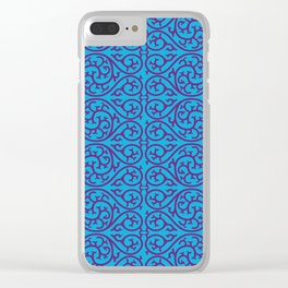 blue and purple design Clear iPhone Case