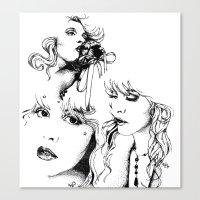 stevie nicks Canvas Prints featuring Trois Stevie by Lynette K.