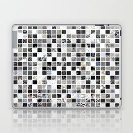 Checkered Past in Black and White Laptop & iPad Skin