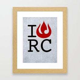 I love RC Framed Art Print