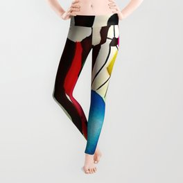 Classical African American Masterpiece 'Bourbon Street New Orleans Jazz' by Fred Blassingham Leggings