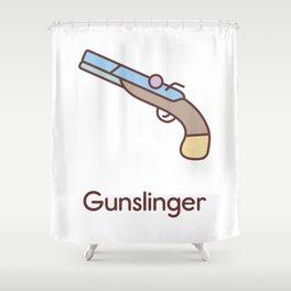 Cute Dungeons and Dragons Gunslinger class Shower Curtain