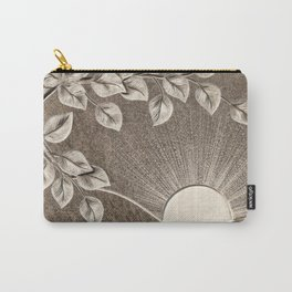 Sun and Tree Carved Stone Carry-All Pouch