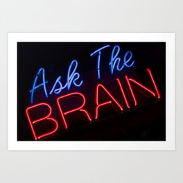 Abstract Ask The Brain Art Print