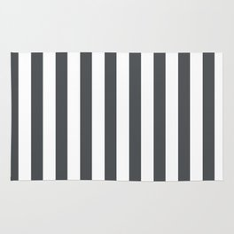 Grey and white stripes Rug