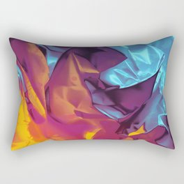 Surfing Europa. Dynamic Yellow, Orange and Blue Abstract. Rectangular Pillow
