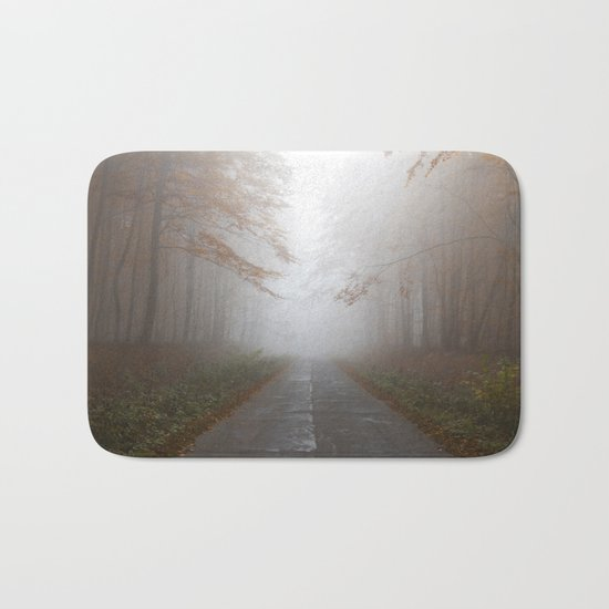 Forest Walk #fog Bath Mat