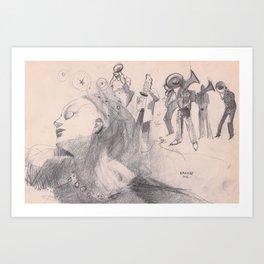 danza5 by nicolas Perruche Art Print