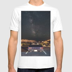 Drive in Milky Way MEDIUM Mens Fitted Tee White