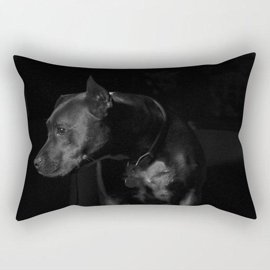 The black dog 7 Rectangular Pillow