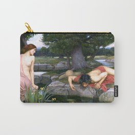 Echo and Narcissus by John William Waterhouse Carry-All Pouch
