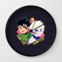 hunter x hunter Wall Clocks featuring Hunter x Hunter by XENVITA