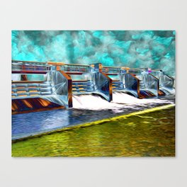 Flood Gates of Binary River Canvas Print