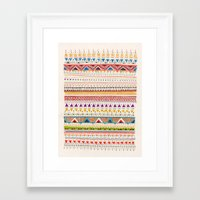 shapes Framed Art Prints featuring Pattern by Sandra Dieckmann