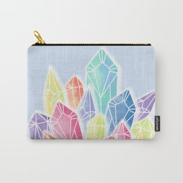 Crystals Blue Carry-All Pouch