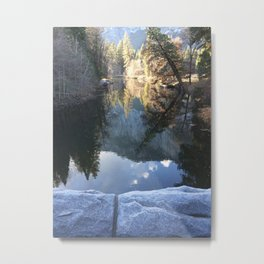 Sentinel Bridge Merced River Light Metal Print