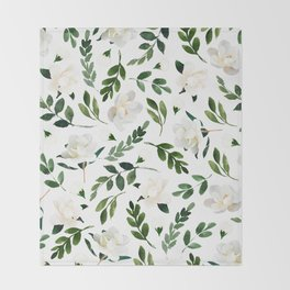 Magnolia Tree Throw Blanket