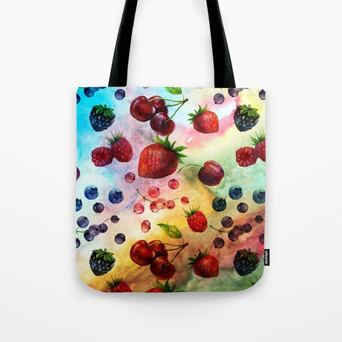 Summer fruits- Fresh strawberry berry pastel pattern Tote Bag