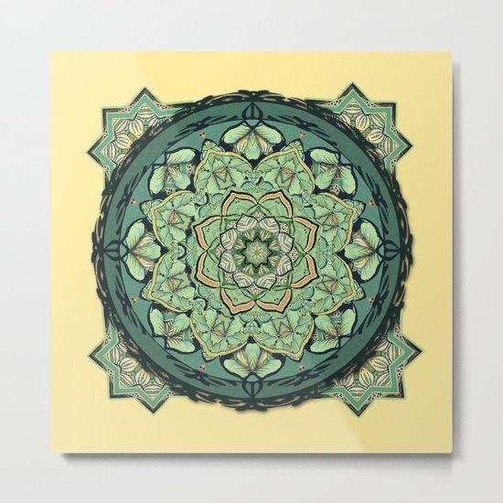 Morris Mandala Metal Print