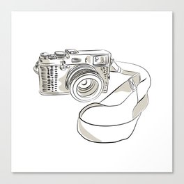 35mm SLR Film Camera Drawing Canvas Print