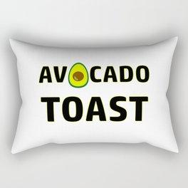 Avocado Toast Art Work Vegan | Gift Idea Rectangular Pillow