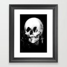 All Is Vanity: Halloween Life, Death, and Existence  Framed Art Print