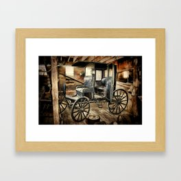 Vintage Horse Drawn Carriage Framed Art Print
